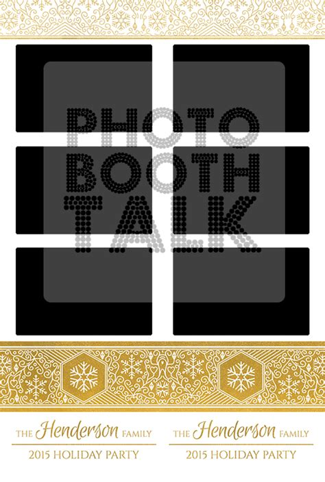 winter shimmer gold foil photo booth talk