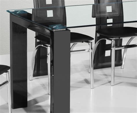 Dining Table Black Gloss Dining Table And Chairs