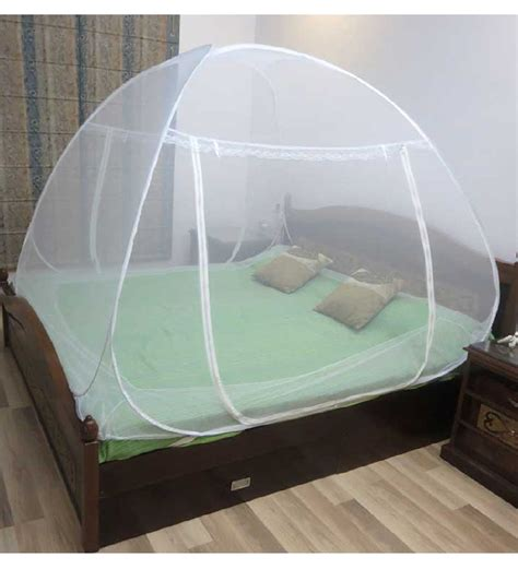 healthgenie double bed mosquito net white by healthgenie