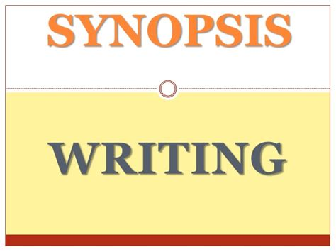 synopsis writing for dissertation synopsis writing
