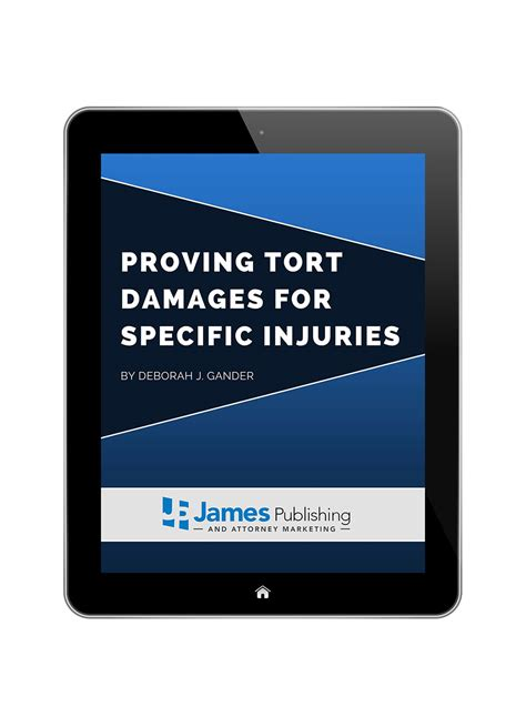 Proving Damages To The Jury publishing eguide proving tort damages for specific