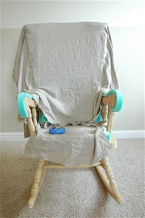 Wooden Rocking Chair Covers by Adding Comfort To A Wooden Rocking Chair Part Two Makely
