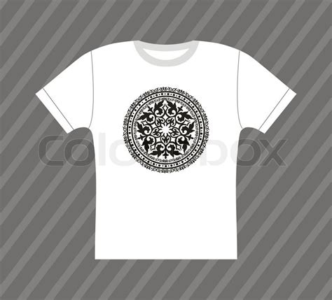 pattern shirt vector vector white t shirt design with ornamental pattern