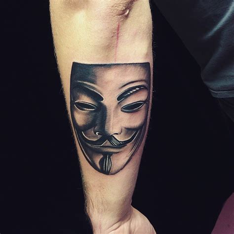 anonymous mask tattoo fawkes www pixshark images galleries