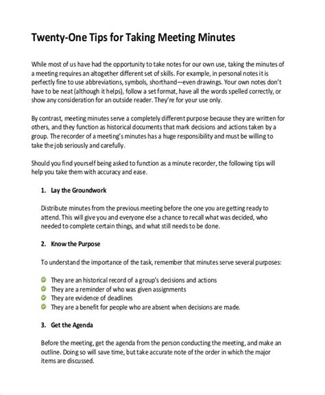 8 meeting note template bookletemplate org
