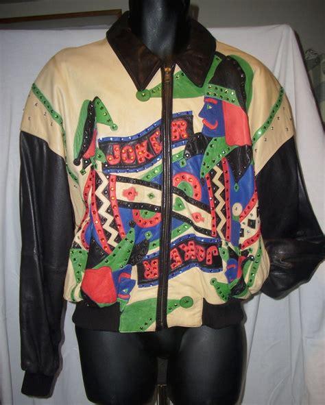 Jaker Hoodie Outerwear Jaket Bomber Hoodie vintage marc buchanan pelle pelle leather studded joker