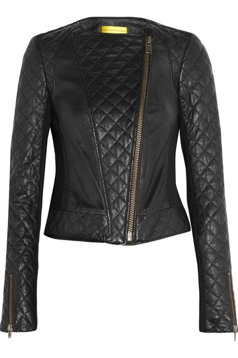 Quilted Leather Jackets by Catherine Malandrino Quilted Leather And Stretchponte