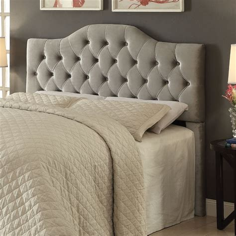 gray tufted headboard king coaster headingley tufted king california king headboard