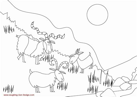 The Three Billy Goats Gruff Coloring Pages Coloring Home Three Billy Goats Gruff Coloring Page