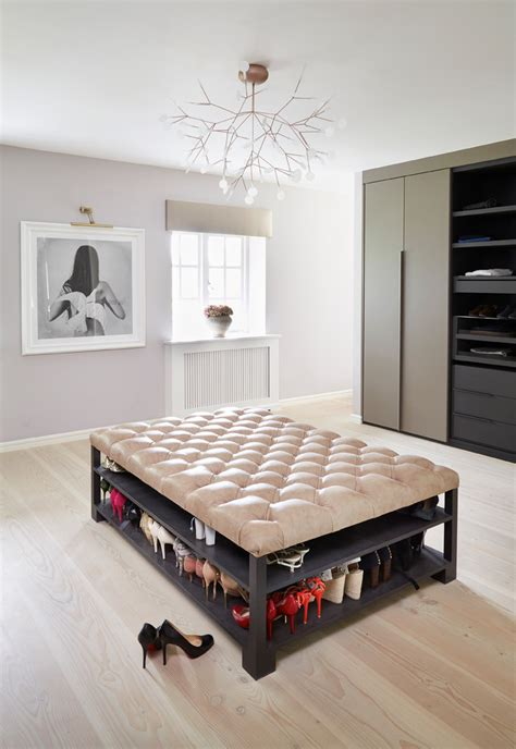 dressing room ottoman innovative shoe storage ottoman in closet contemporary