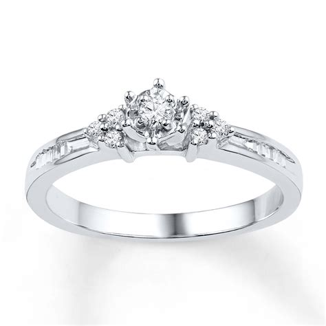jared promise ring 1 5 ct tw baguette 10k