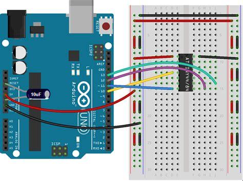 capacitor between reset and ground programming attiny84 attiny44 with arduino uno