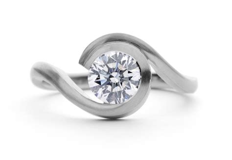contemporary platinum engagement ring mccaul goldsmiths