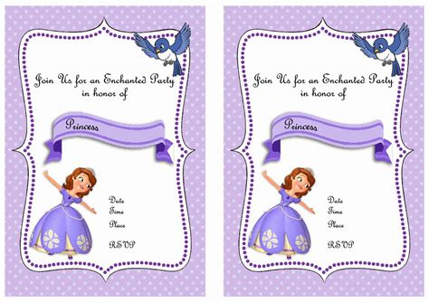 printable invitations of sofia the first sofia the first birthday invitations birthday printable