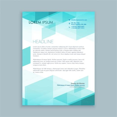 Business Letter Template Photoshop Creative Modern Letterhead Template With Abstract Shapes Vector Free