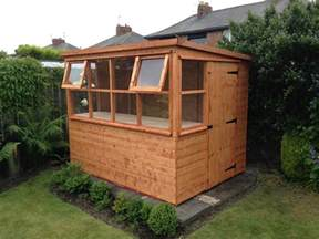 potting shed sun pent greenhouse great garden addition