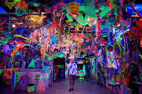 glow in the paint nyc kenny scharf quot cosmic cavern quot hypebeast