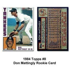 1984 Don Mattingly Topps by 1000 Images About Baseball Cards Memorabilia On