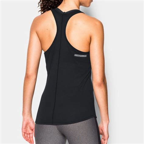 Back Detail Tank Top Zalora Sport armour charged womens black racerback running sports