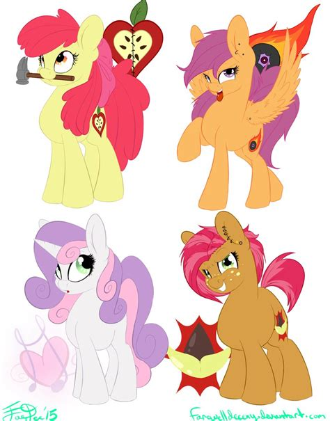my little pony cutie mark crusaders grown up