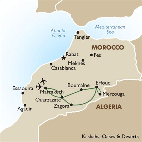 middle east map morocco morocco tour package kasbahs oases and desert goway