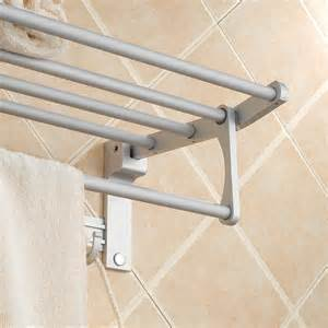 folding towel bar towel rack space aluminum folding towel bathroom