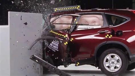 Honda Crv Crash Tests by 2013 Honda Crv Crash Test Iihs Small Overlap Test