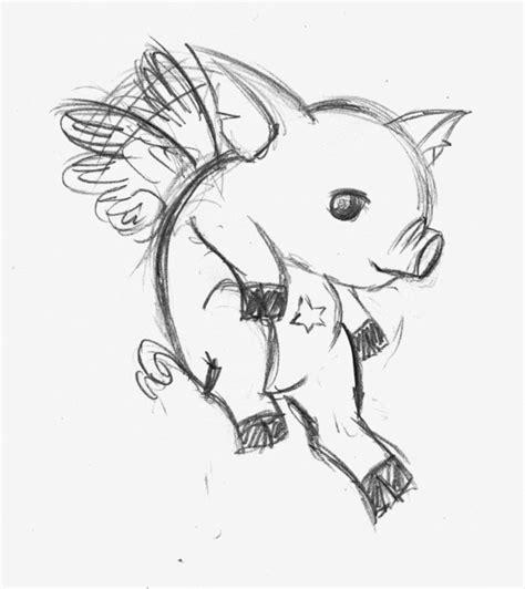 Flying Pig Drawing Flying Pig Drawing