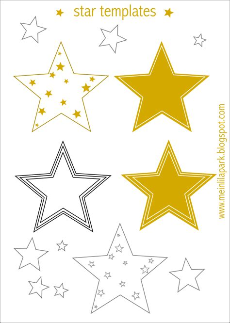 printable christmas decoration templates free printable star templates 16 last minute diy