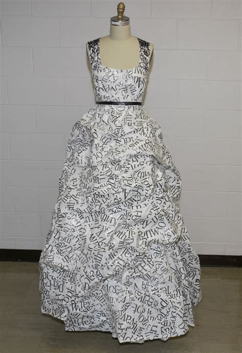 Outens Plight To Make Recycling Fashionable by Sustainable Dress Made From Plastic Bags Upcycled