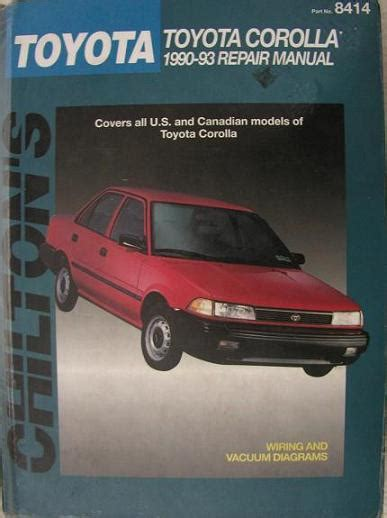 total car care repair manuals toyota pick ups land autos post 1990 1993 toyota corolla chilton s total car care manual