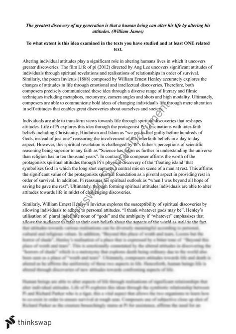 Hsc Discovery Essay Questions by Area Of Study Discovery Essay Year 12 Hsc Standard Thinkswap