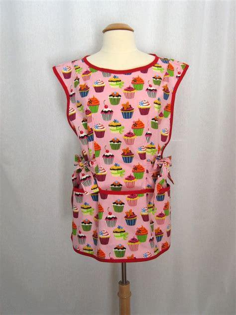 pattern cobbler apron pink cupcake cobbler apron smock apron over the head apron