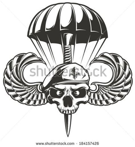 army parachute coloring pages airborne skull idea i would add a bottom jaw fix the