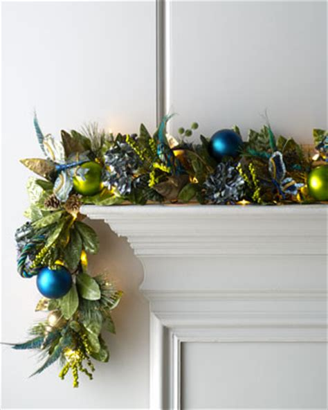 blue spruce pre lit holiday garland contemporary
