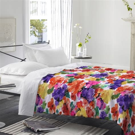bright floral bedding bright floral bedding in a white room bedding pinterest