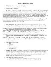 Topic Proposal For Research Paper Research Proposal On Eating Disorders