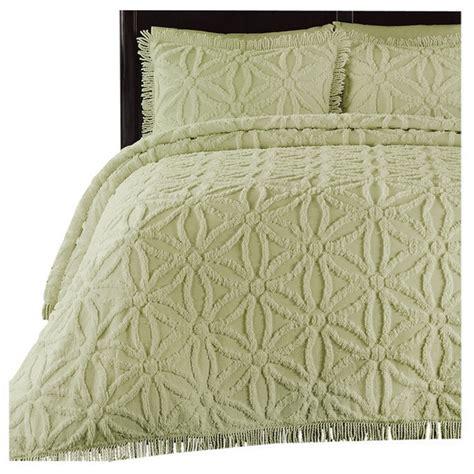 Chenille Duvet 100 Cotton Chenille Bedspread With Flower Pattern