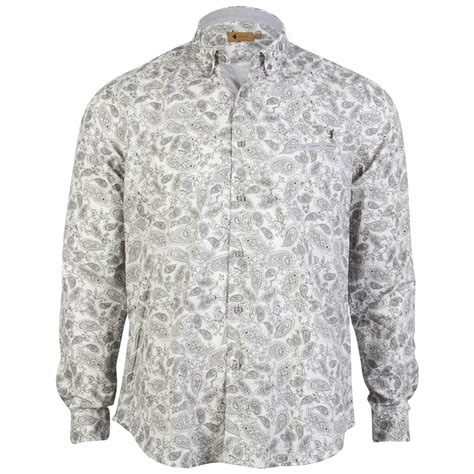 paisley pattern shirt ebay new gabicci vintage mens paisley pattern print button up