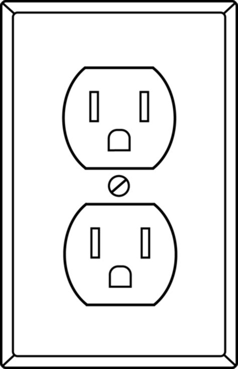 electrical socket line free clip