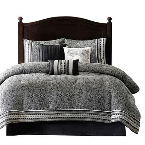 Black Damask Comforter Set by King Size 7 Comforter Set With Damask Pattern In