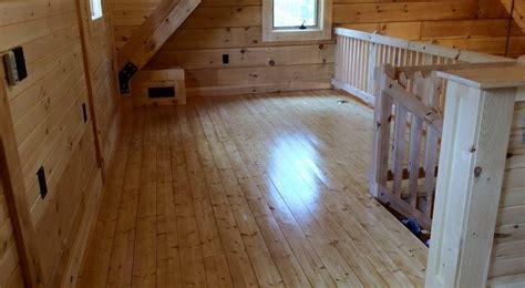 log floor log home construction interior finishes