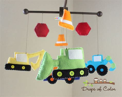 Truck Crib Mobile by Baby Crib Mobile Baby Mobile Construction Truck Mobile