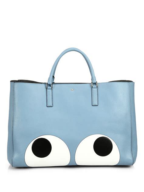 Guess The With The Anya Hindmarch Tote by Anya Hindmarch Ebury Big Tote In Blue Lyst