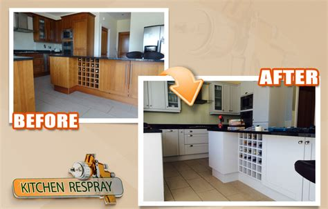 spray paint kitchen cabinets cost kitchen respray irelands all surface respray