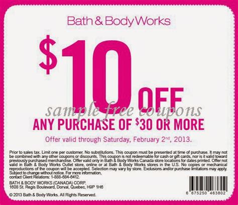 bed body works coupon printable coupons bath and body works coupons
