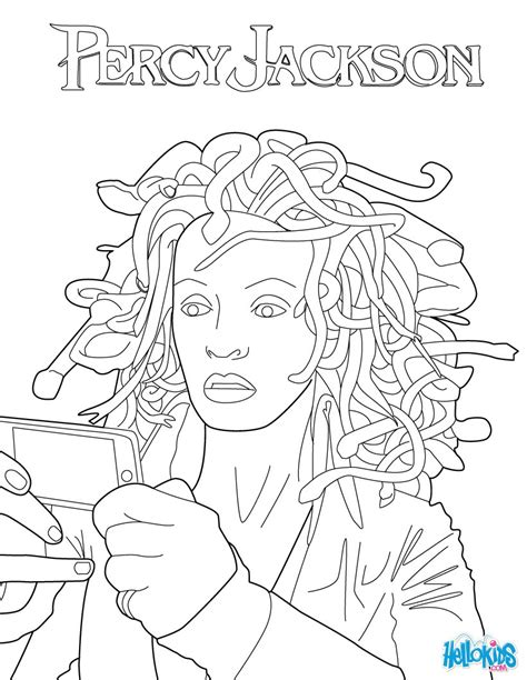 percy jackson coloring book activity book for children and books medusa coloring pages hellokids
