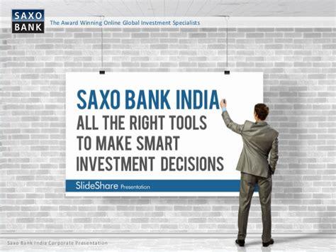 Saxo Bank Investing Tools