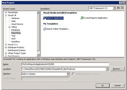Report Template For Visual Studio 2008 What S New In Visual Studio Net 2008