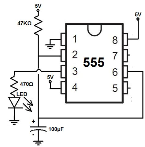 how to build a delay before turn circuit with a 555 timer